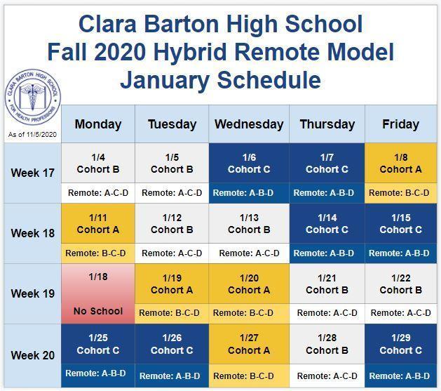 January 2021 Hybrid Schedule