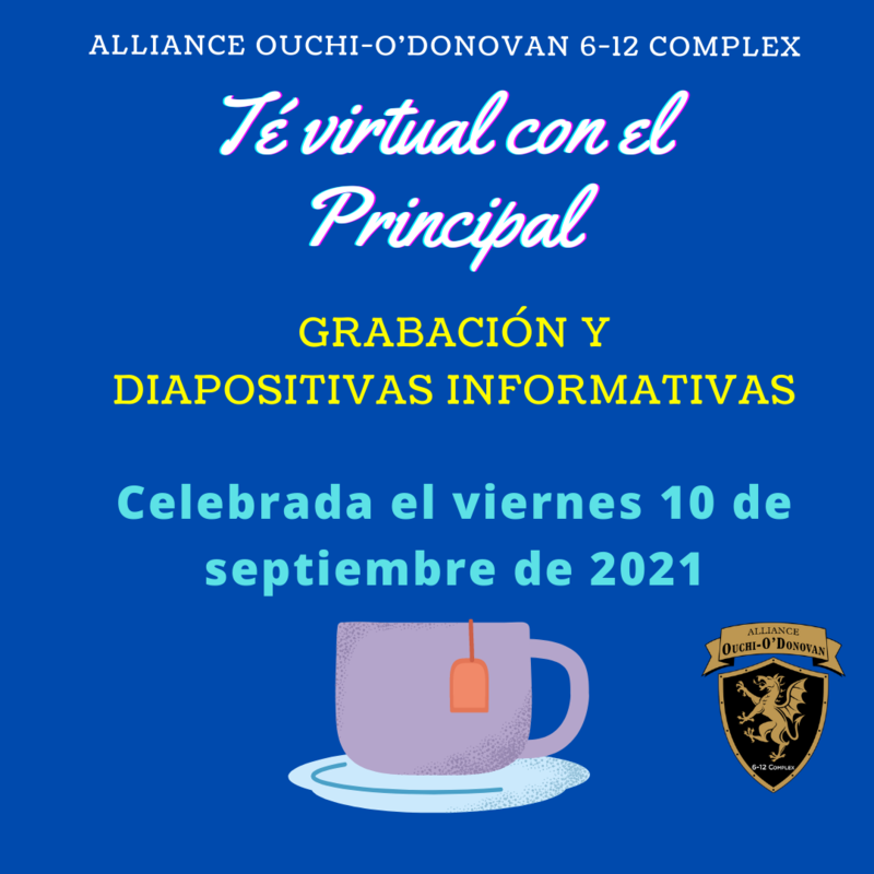 Virtual Parent Meeting with the Principal:  Friday, Sept. 10th (Recording and information) Thumbnail Image