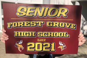 FGHS Senior Yard Sign