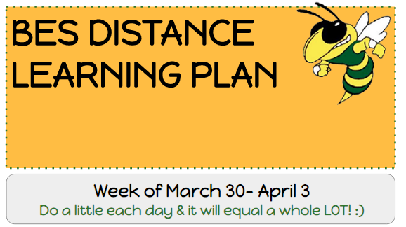 Week 1 Distance Learning Packets Thumbnail Image
