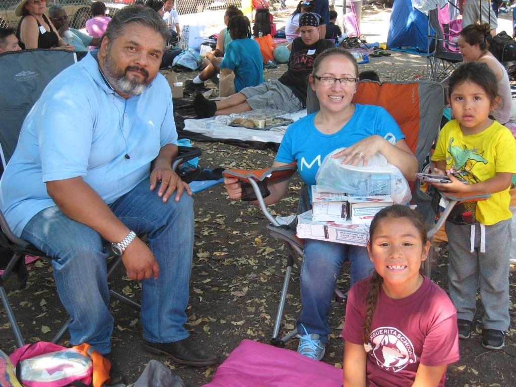 Families during the PTA/ASB Community Building Picnic.