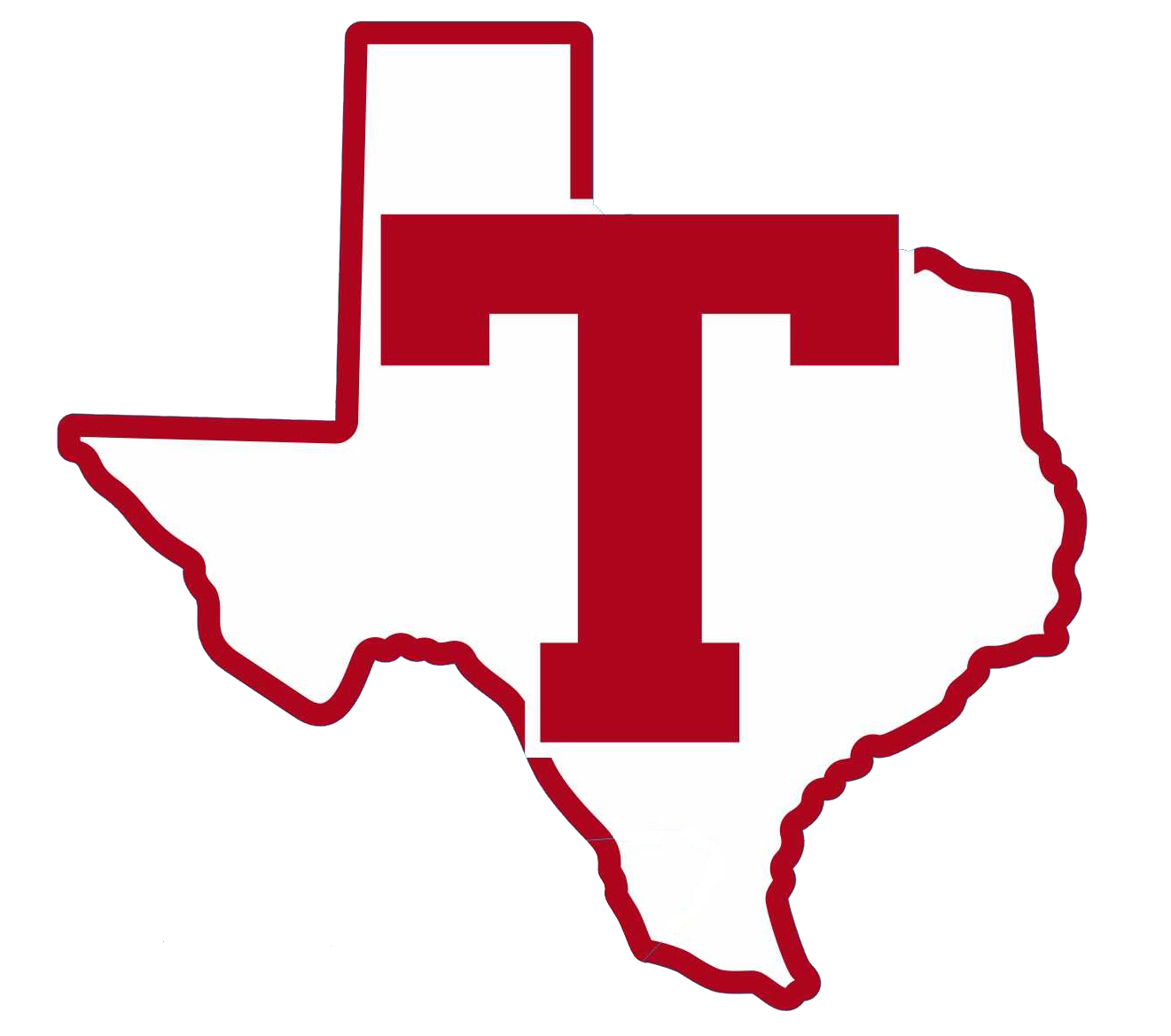 Big Red T with Texas outline