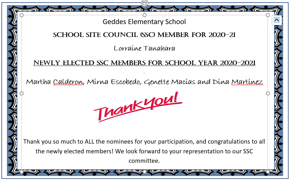 School site council members
