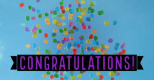 Congratulations with balloons