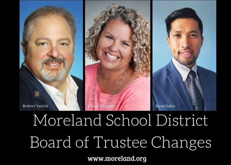 Moreland Trustees Whipple and Varich to Leave Board after Long Tenures of Service; Sales Fills One Seat Thumbnail Image
