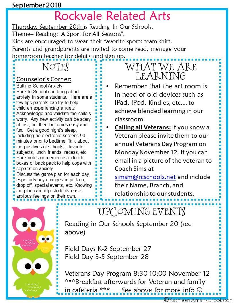 Related arts newsletter