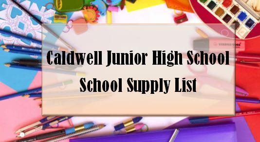 CJHS School Supply List