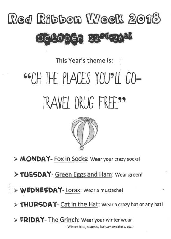 Red Ribbon Week 2018 Flyer