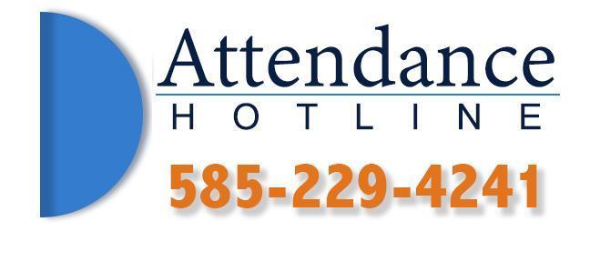 ATTENDANCE HOTLINE 585-229-4241