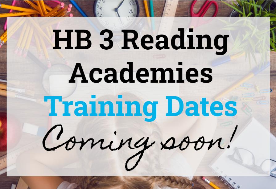 hb3 reading academies coming soon