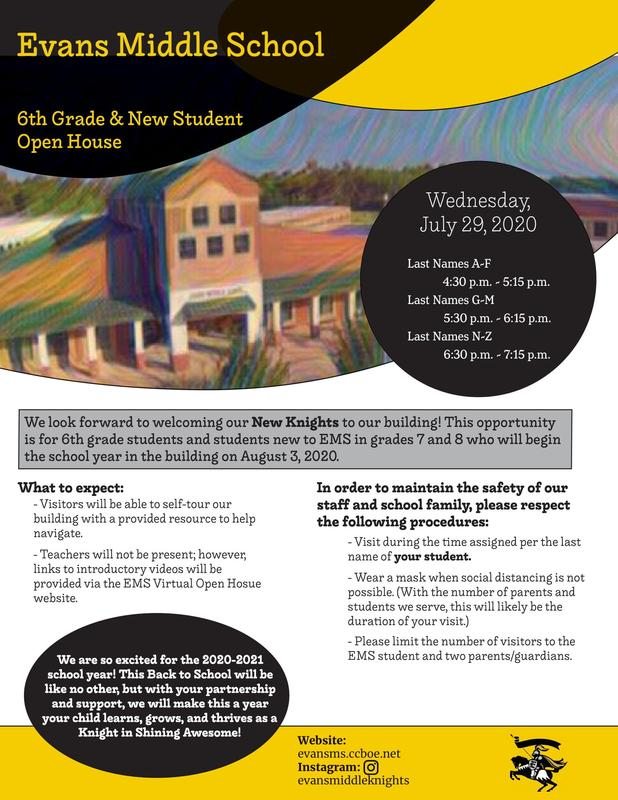 Evans Middle Open House