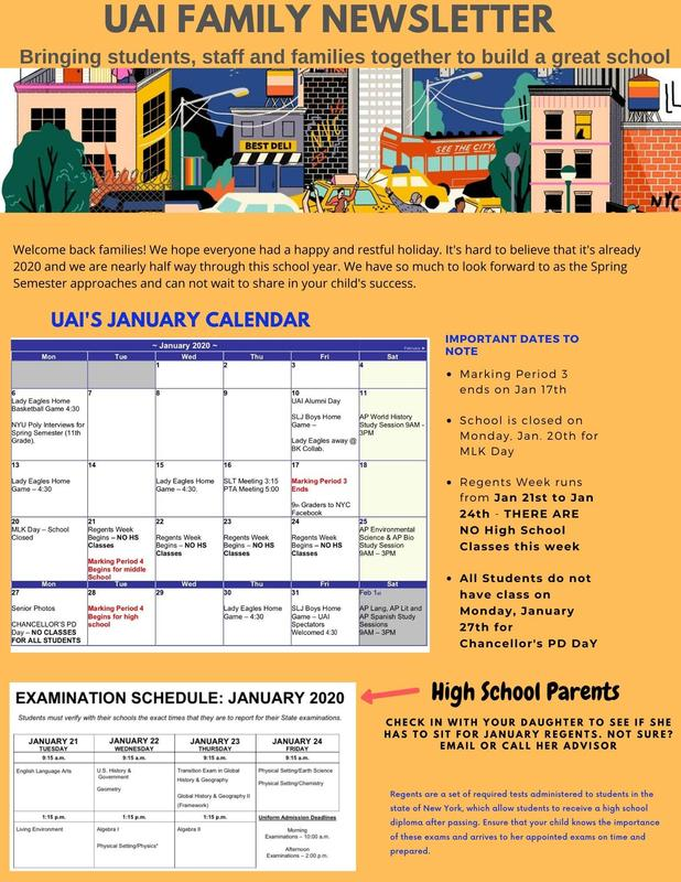 Family Newsletter -Week of Jan. 6th Featured Photo