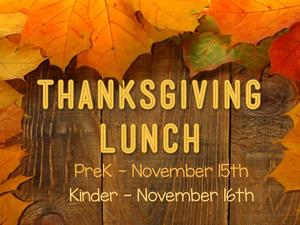 THANKSGIVING LUNCHES