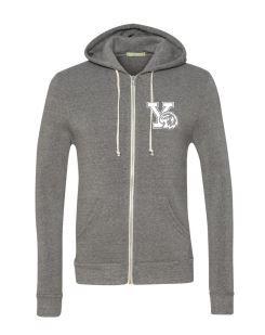 Grey Adult Zip Up -