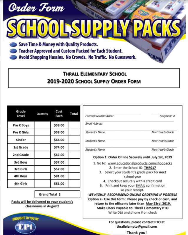 School Supply Kits for 2019-2020 school year are available. Thumbnail Image