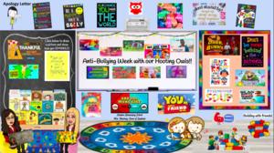 Bitmoji classroom with anti-bullying theme
