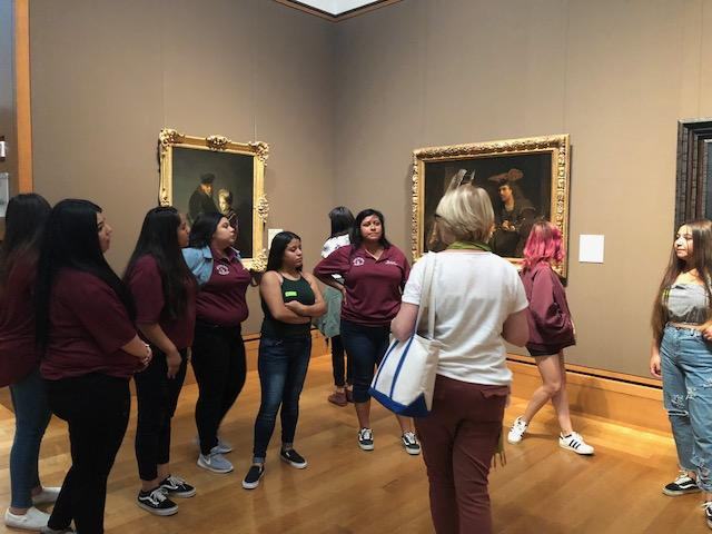 Students learn about the Getty collections