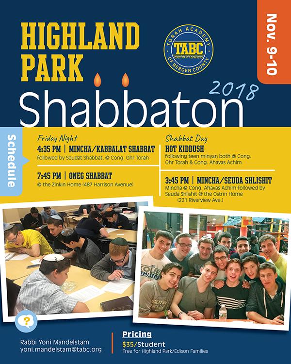 HIGHLAND PARK SHABBATON! Thumbnail Image
