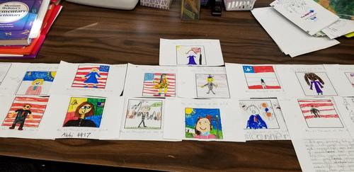 If I were president drawings made by second grade.