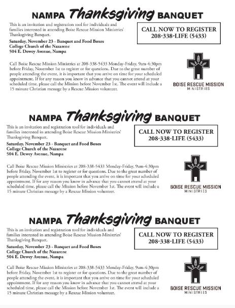 Thanksgiving Banquet Request
