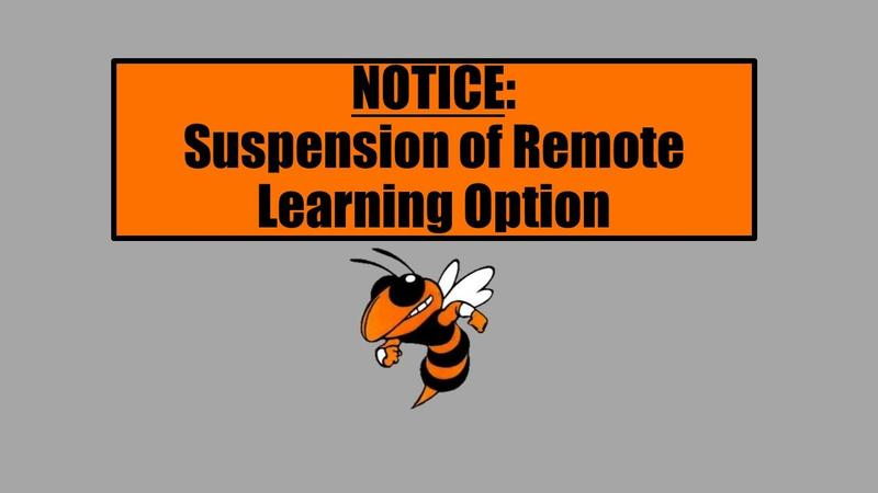 Suspension of Remote Learning. Click here for more info. Featured Photo