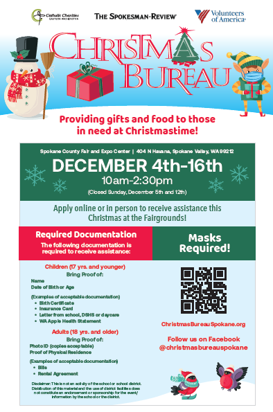 Registration for the Christmas Bureau is now open! Thumbnail Image