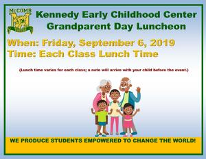 Kennedy Early Childhood Center Grandparent Day Luncheon 2019