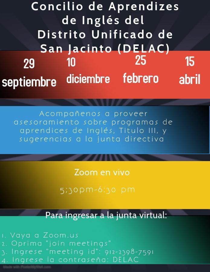 Concilio de Aprendizes de Ingles del Distrito Unifcado de San Jacinto