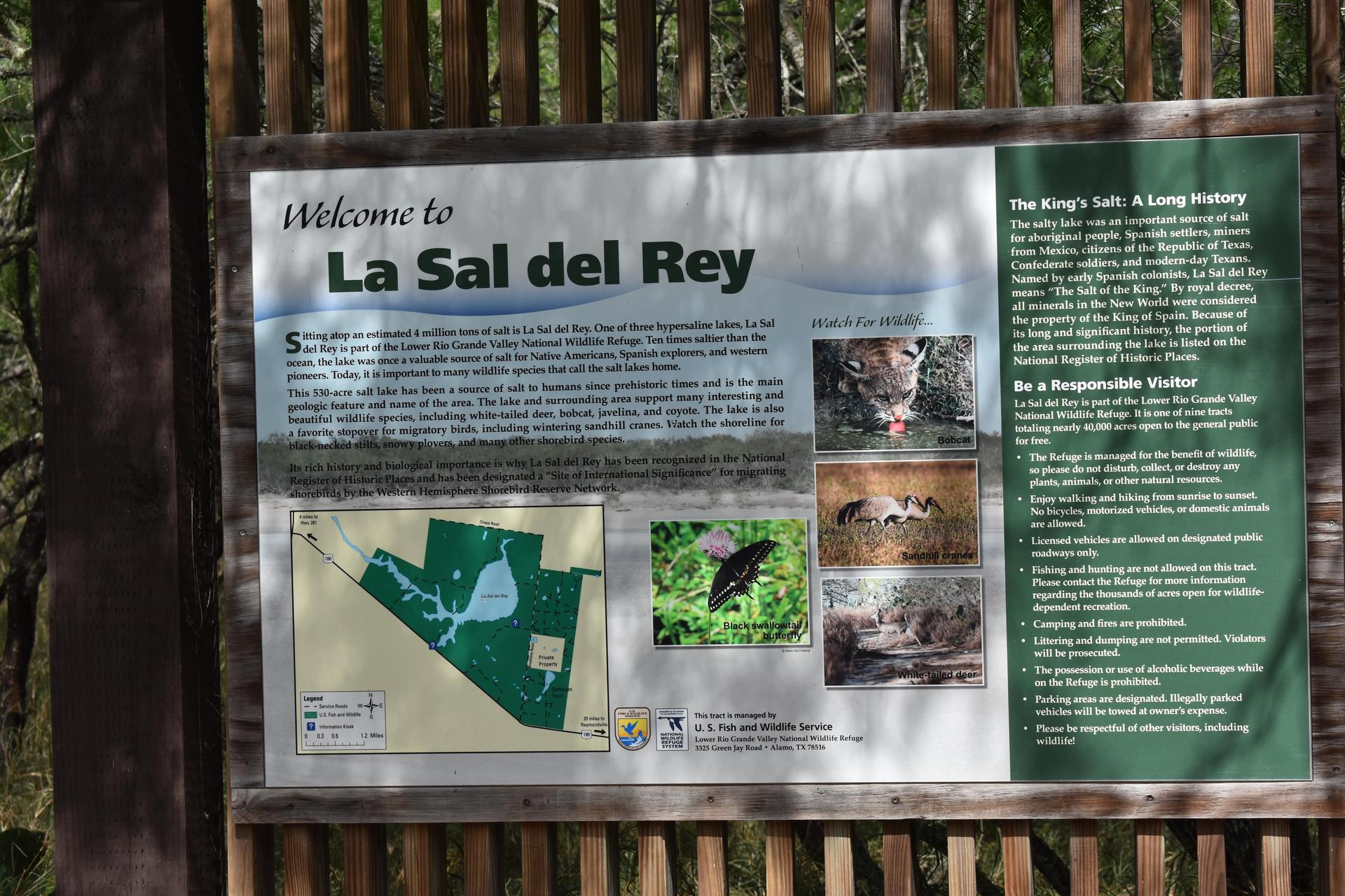 Welcome sign for Sal Del Ray