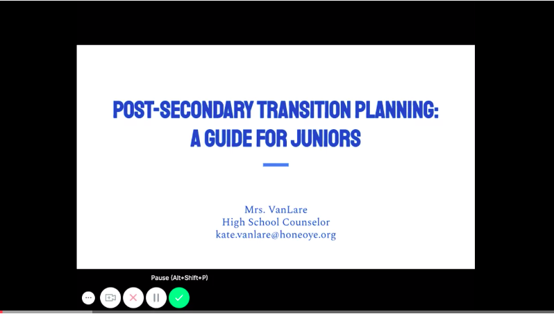 PLANNING AHEAD VIDEO FOR JUNIORS