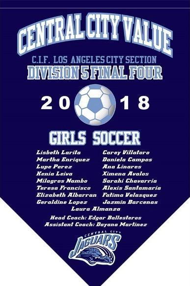 2018 Girls Soccer Final Four Banner