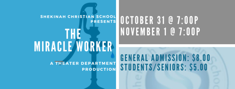 The Miracle Worker Production| Oct 31 & Nov 1 Thumbnail Image