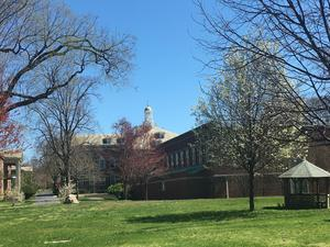 View of Schermerhorn hall from VC path