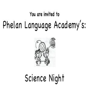 Phelan Science Night Flyer