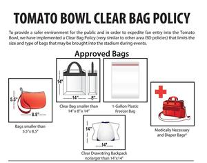 Clear Bag Policy with pictures