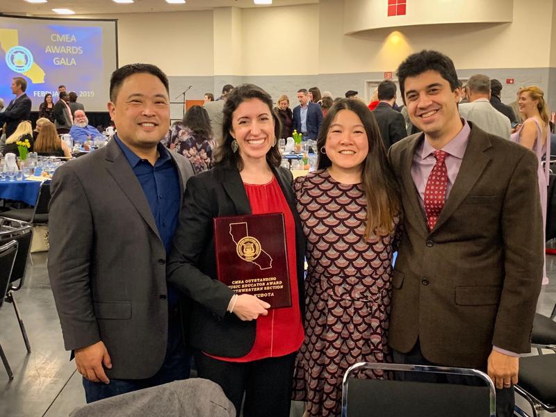 RIa Kubota honored at CMEA Gala