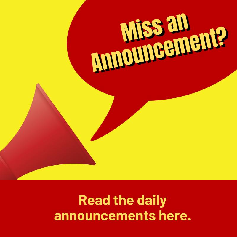 Miss an announcement