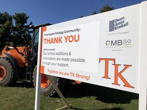 Thank you signs to the community will be placed at each of the elementary schools.