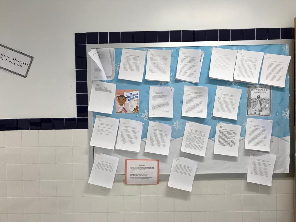 the youngest mother writing activity display