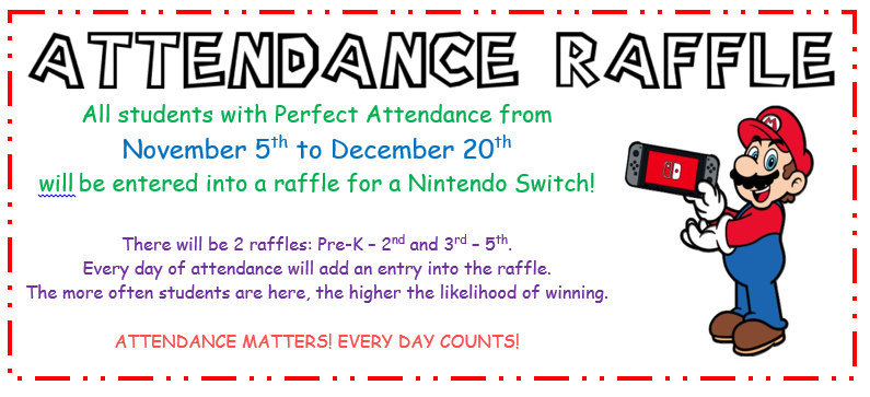 Nintendo Switch Attendance Raffle! Featured Photo