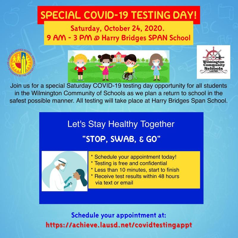 Special COVID-19 Testing Day! Featured Photo