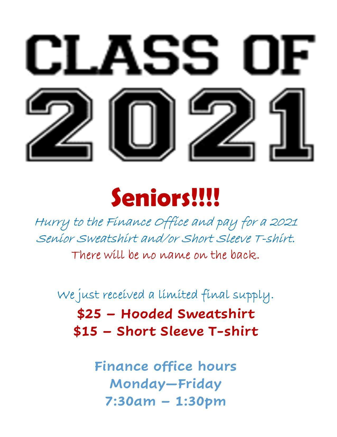 Senior extra shirts 2021