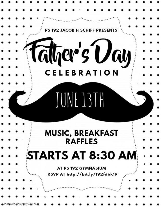 father's day flyer with big moustache english