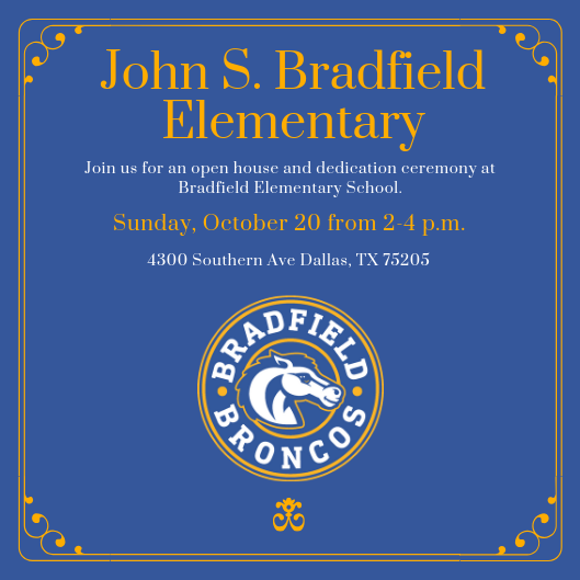Save the date for the Bradfield Elementary Open House Featured Photo