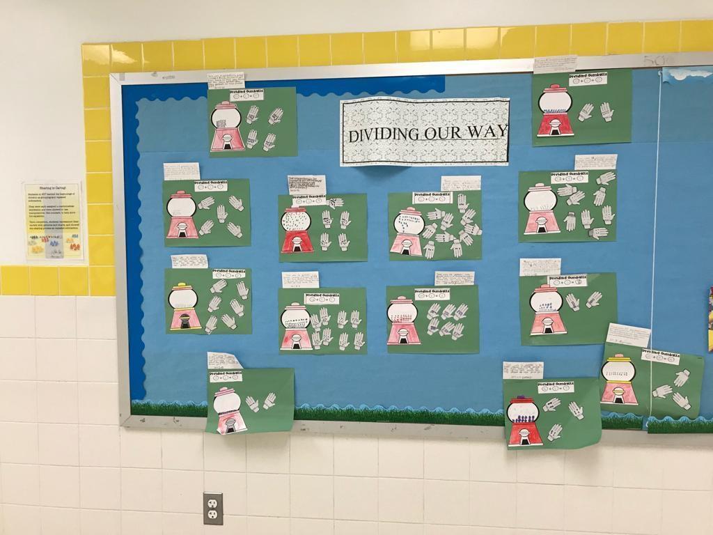 dividing our way gumball math activity display