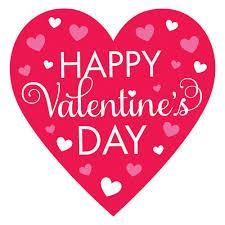 Heart that says Happy Valentine's Day!