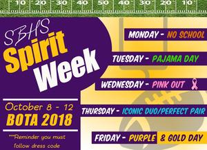 Spirt Week Flyer
