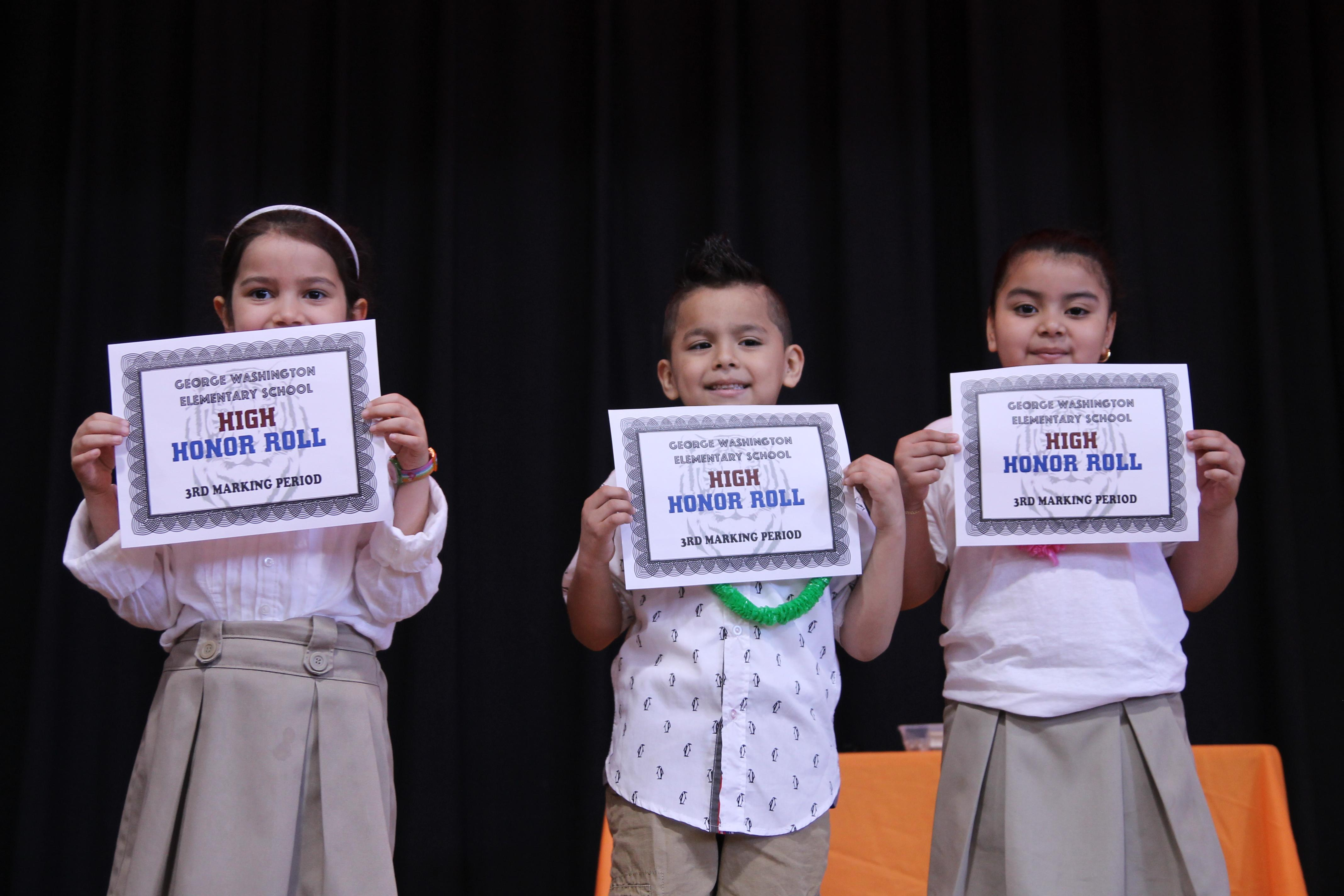 First Grade honor students