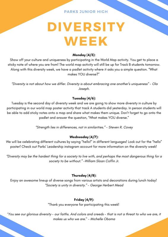 Diversity week info and quotes