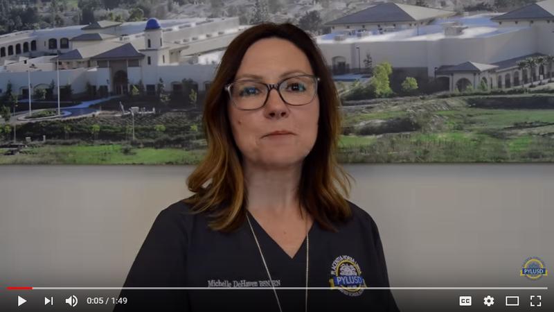 PYLUSD Lead Nurse Michelle DeHaven